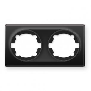 Рамка двойная, цвет чёрный